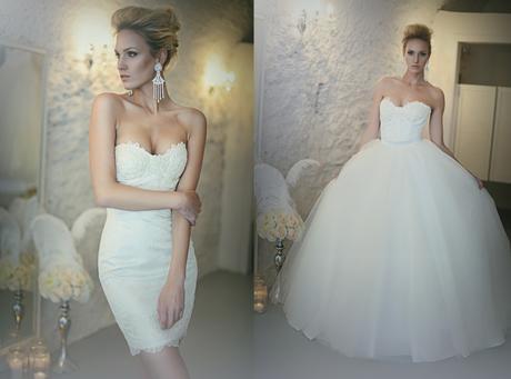 Svatební šaty 2v1 vel. 36/38 ivory, 36