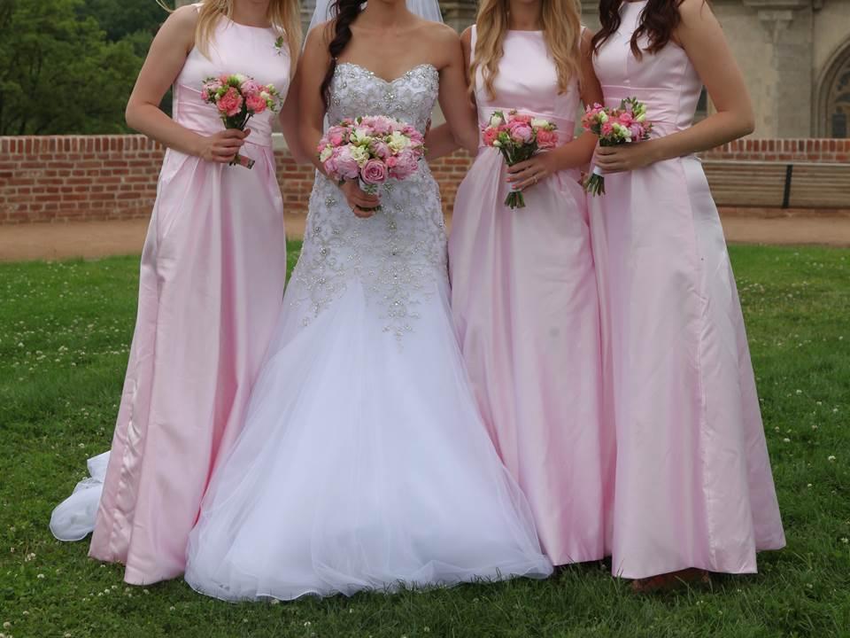 55dda11594a Šaty pro družičky - světle růžové 3 velikosti
