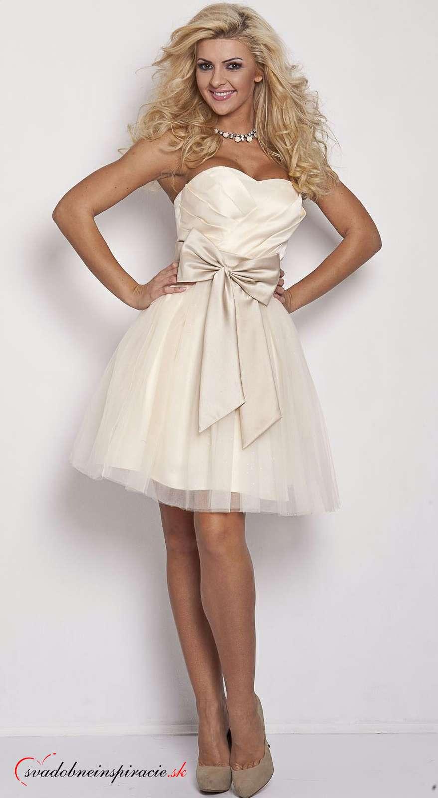 7117d26f4a1 Spoločenské šaty michelle  smotanové