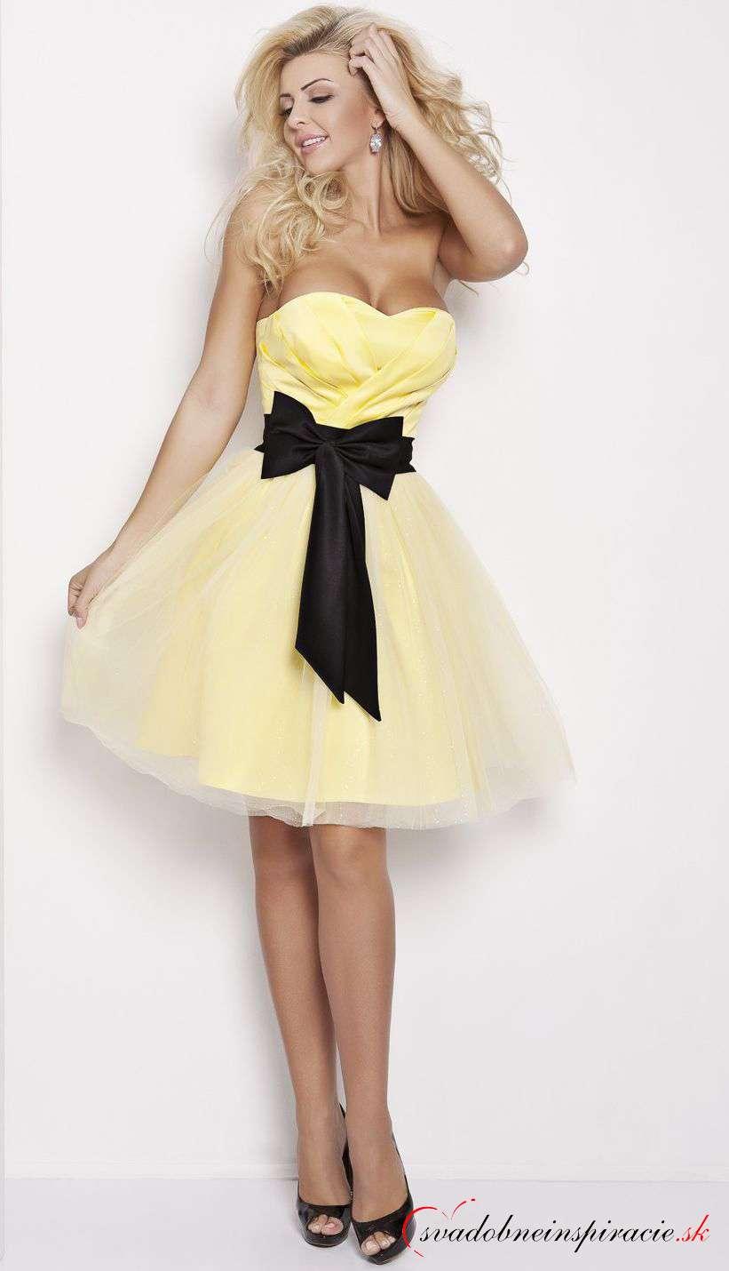288406ea03c Spoločenské šaty michelle  žlté