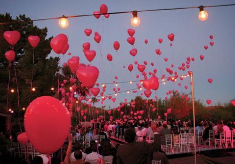 Balóniky červené srdcia (10 ks),