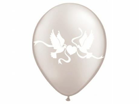 Balóniky - holúbky - biele,