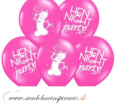 "Balóny ""HEN NIGHT PARTY"" - Fuchsia (10 ks) ,"