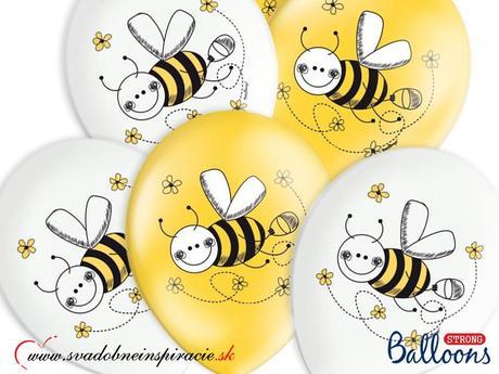 """Balóny """"VČIELKY"""" (6ks),"""