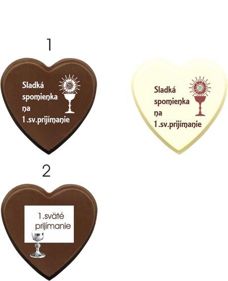 """Čokoládka na 1.sväté prijímanie """"SRDIEČKO"""","""