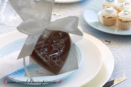 """Čokoládka na KRST """"SRDIEČKO"""","""