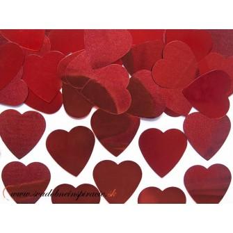 Confetti - Červené srdiečka (10 g),