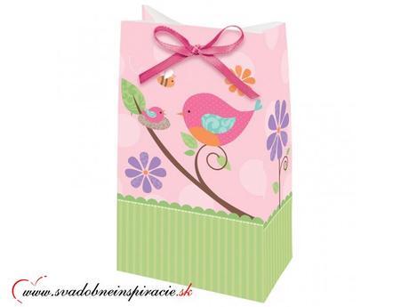 Darčekové tašky Ružové (12 ks),