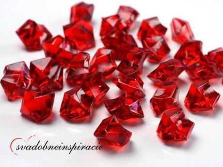Dekoračné kamienky Diamantíky - Červené (50 ks),