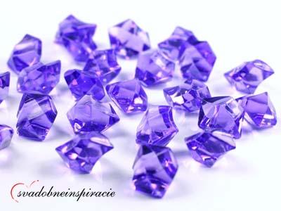 Dekoračné kamienky Diamantíky - Fialové (50 ks),