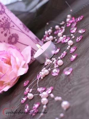 Dekoračné kamienky Diamantíky malé - Fuchsia 100ks,