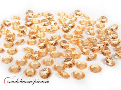 Dekoračné kamienky diamantíky malé zlaté - 100 ks,