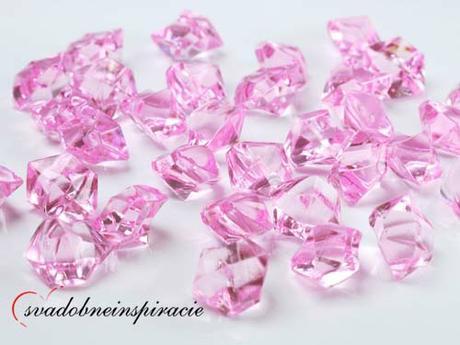 Dekoračné kamienky Diamantíky - Ružové (50 ks),