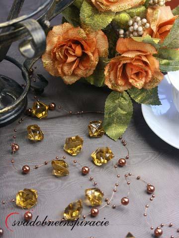 Dekoračné kamienky Diamantíky - Zlaté (50 ks),