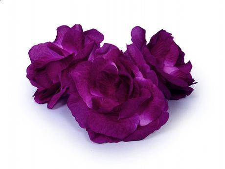 Dekoračné kvietky prilepovacie -ruže fialové 24ks,