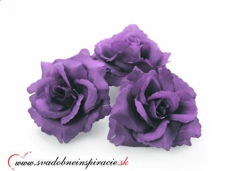 Dekoračné kvietky prilepovacie - ruže levanduľové ,
