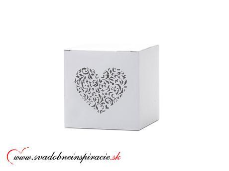 Krabičky na darčeky s gravírovaným srdiečkom (10ks,