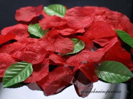 Lupene ruží + lístky - červené 100 ks za 1 Eur,