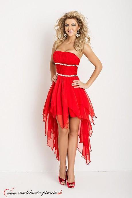 57798e7a5648 Nádherné spoločenské šaty carmen  červené