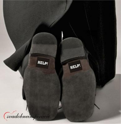 "Nálepky na topánky ""HELP"" (2 ks),"