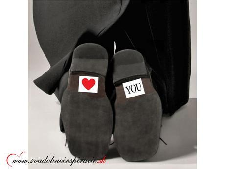 Nálepky na topánky LOVE YOU (2 ks), 43
