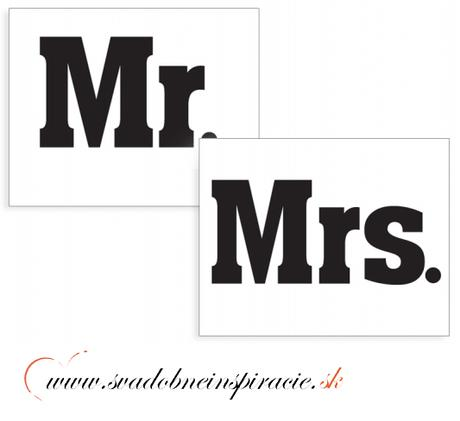 """Nálepky na topánky """"MR.&MRS."""" (2 ks),"""