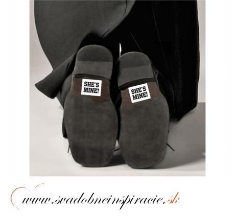 Nálepky na topánky SHE IS MINE (2 ks),