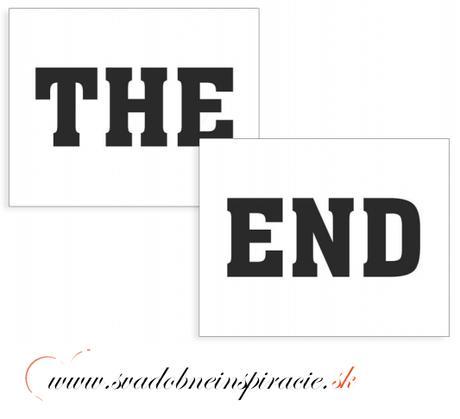 "Nálepky na topánky ""THE END"" (2 ks),"
