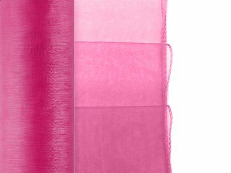 Obšitá organza v rôznych farbách 0,38x9 m za 2,90,