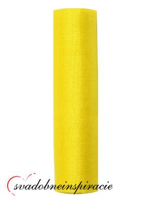 Organza 0,16x9 m - Žltá,