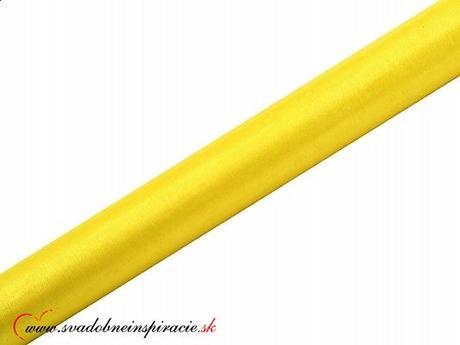 Organza 0,36x9 m - Žltá,