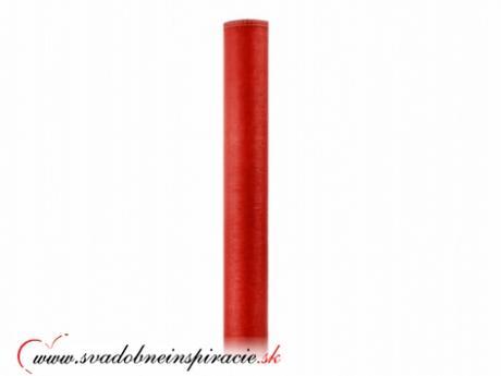 Organza obšitá 0,38x9 m - červená,