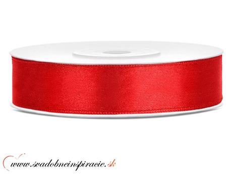 Ozdobná saténová stuha 1,2 cm červená,