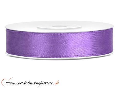 Ozdobná saténová stuha 1,2 cm fialová,