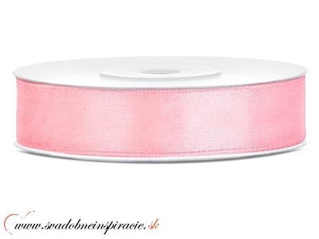 Ozdobná saténová stuha 1,2 cm, ružová,