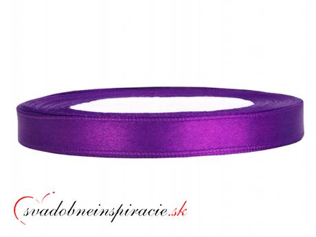 Ozdobná saténová stuha - fialová (25 m),