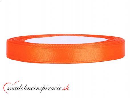 Ozdobná saténová stuha - oranžová (25 m),