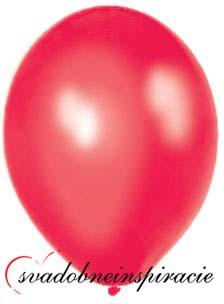 Perleťové balóniky - Červené (25 ks za 2,50 Eur),