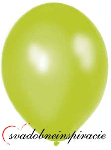 Perleťové balóniky - jablkovozelené,