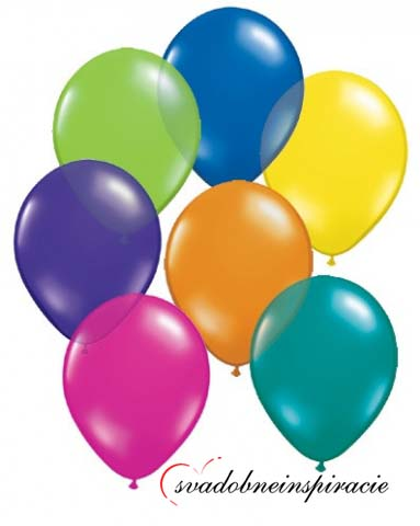 Perleťové balóniky - mix farieb (25 ks za2,50 Eur),