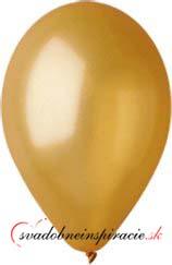 Perleťové balóniky - zlaté (20 ks za 2,20 Eur),