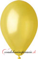 Perleťové balóniky - žlté (20 ks za 2,20 Eur),