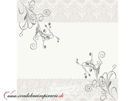 Servítky 3-vrstvové - Biely ornament ,