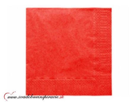 Servítky 3-vrstvové - červené (20 ks) ,