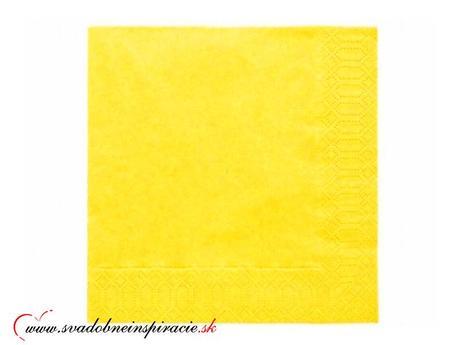Servítky 3-vrstvové - Žlté,