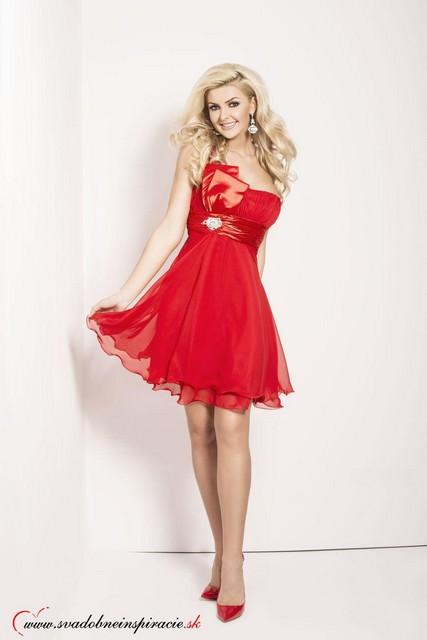 2e835a177211 Spoločenské šaty sandra  červené