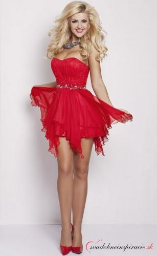 9fc133726dee Spoločenské šaty tiffany  červené