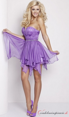 41b93599c92f Spoločenské šaty tiffany  fialové