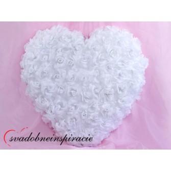 Srdce z ruží - plné /BORDOVÉ, BIELE/ ,
