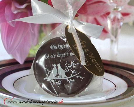 """Svadobná čokoládka """"Dukátik"""" - aj s Vašimi menami ,"""
